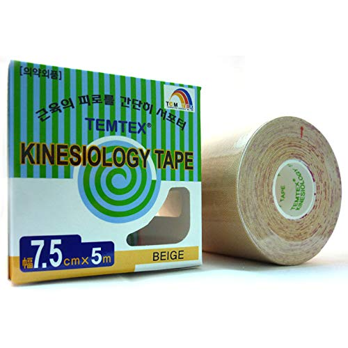temtex–Kinesiology Tape 7,5x 51ud, Größe 7,5cm x 5m, beige