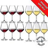 Collezione DIVINO Bormioli Rocco - Set 12 Calici Vino - N° 6 Divino Rosso 53 cl + N° 6 Divino...