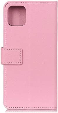 WiseLSwim Stylish Cover Compatible with Samsung Galaxy Note 10, Pink Leather Flip Case Wallet for Samsung Galaxy Note 10