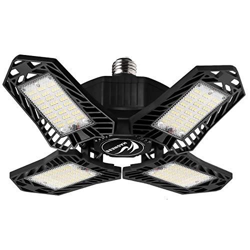 Garage Light 150W Deformable LED Garage Lights,15000LM 6500K 4 Leaf Garage Ceiling Light,270°Adjusted Beaing Exposure LED Bulb,E26/E27 Screw in Led Shop Light for Working Light,Barn