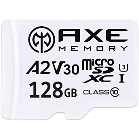 Axe 128gb Microsdxc Memory Card Sd Adapter With A2 Computers Accessories