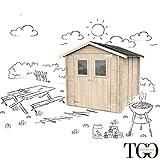 Casetta in legno Per Attrezzi Barbecue Jack con porta doppia finestrata 198 x 248 cm