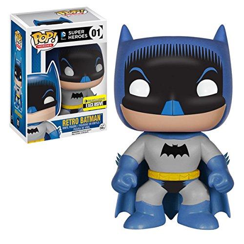 Funko 6717 – Figura de DC Comics, Pop Vinyl 01 Retro Batman, 9 cm