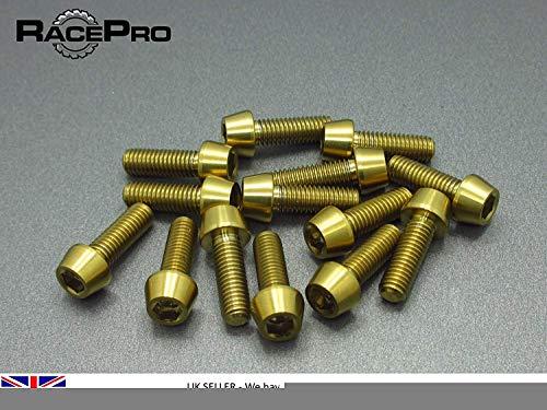 RacePro 6x Boulon conique titane gr5-M6 x 20mm x 1mm-Allen head-Vert