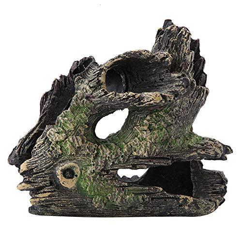FTVOGUE Aquarium Treibholz Künstliche Holz Baum Stamm Wurzel Garnelen Laichen Boden Cave Vivarium Dekoration(03)