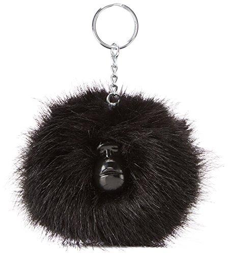 Kipling Pompom Monkey, Porte-clés mixte adulte, Noir (True Black), 5x10x15 cm (W x H x L)