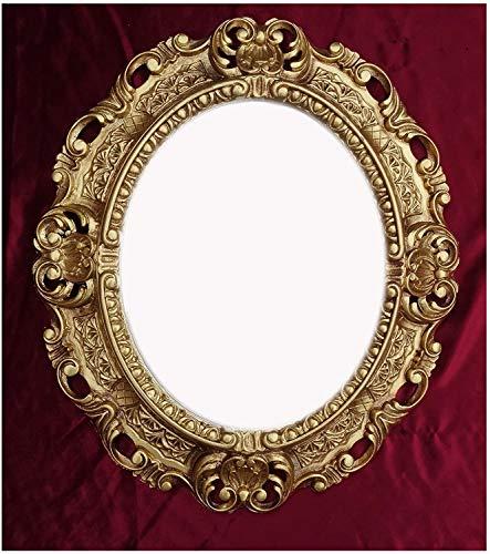 Lnxp WANDSPIEGEL Spiegel Oval in Gold REPRO 45x38 ANTIK BAROCK Rokoko Vintage REPLIKATE Renaissance BAROCKSTIL