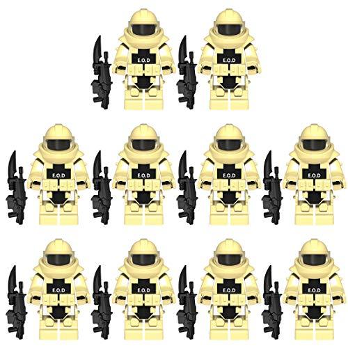 PARIO EOD Rüstung und Custom Waffen Set für Bundeswehr Pionier Mini Figuren SWAT Team Polizei, kompatibel mit Lego