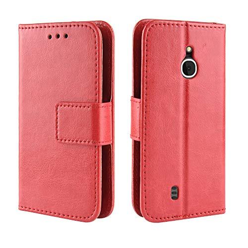 Coque Custodia Nokia 3310 3G,Portafoglio a Fogli mobili Cassa del Telefono per Nokia 3310 3G(Rosso)