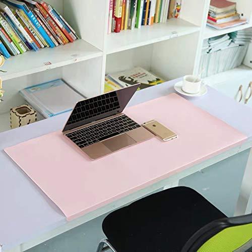 Alfombrilla de escritorio de piel sintética, impermeable, antideslizante, con protector de bordes
