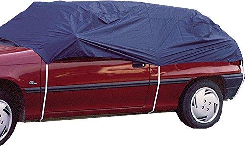 Housse de protection extérieure pour voiture – Demi-Bâche de voiture - très résistante – Taille M – Multi-saison - installation rapide – véhicule compact et break - FILMER