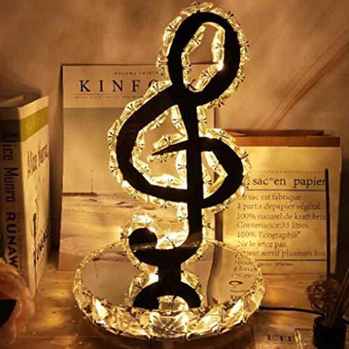 LED K9 Kristall Tischlampe Modern Edelstahl Spiegel Tischleuchte Babyzimmer Schlafzimmer Wohnzimmer Flur Elegante Halbkreis Hinweis Dekorativer Innenbeleuchtung L20cm*H31cm 18W WarmLight3000K