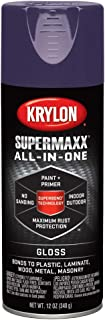 Krylon K08964007 SUPERMAXX All-In-One Spray Paint, Gloss Purple, 12 Ounce