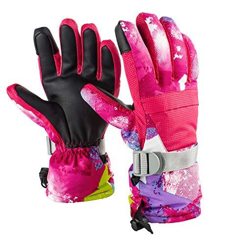 Diswoe Guantes de esquí para Hombre Mujer, Guantes Unisex de esquí Impermeable...