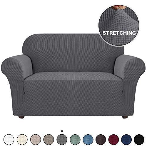 Jacquard Stretch Solid Color Small Checked Sofa Cover Spandex Polyester Love Sofa...