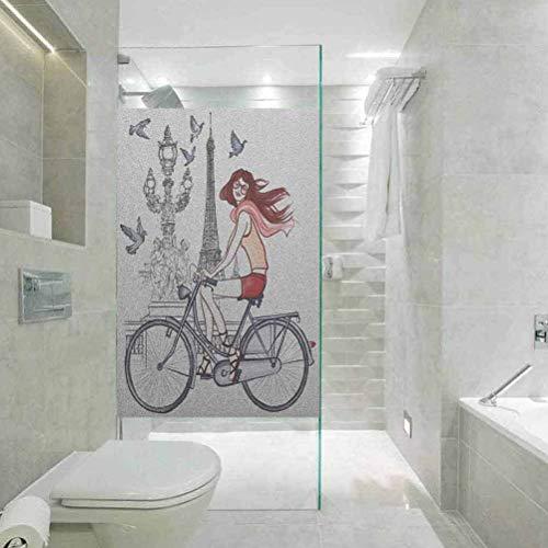 Vinilo 3D protector solar película decorativa para ventana, ilustración de una mujer...