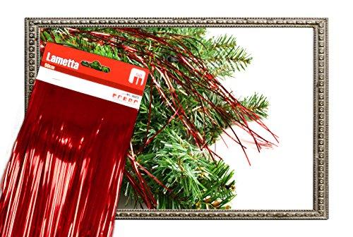 Helmecke & Hoffmann * Lametta Folien-Lametta metallisch-glänzend Baumschmuck Baumbehang (rot)