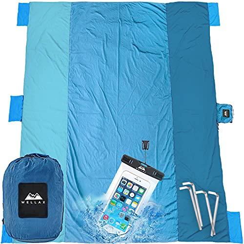 WELLAX Beach Blanket Waterproof Sandproof