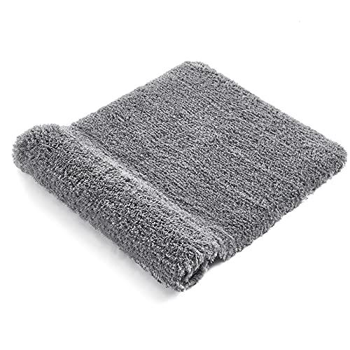 RiyaNed Alfombra de baño antideslizante, absorbente, suave y esponjosa, para bañera, ducha y baño, lavable a máquina, fácil de limpiar (gris, 40 x 60 cm)