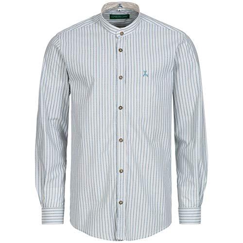 Country-Line Herren Trachten-Mode Trachtenhemd Herbert in Weiß traditionell, Größe:XXL, Farbe:Weiß