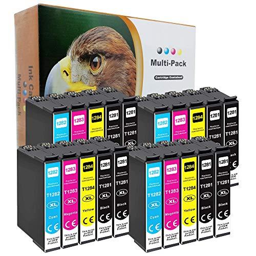 D&C - Juego de 20 cartuchos de tinta compatibles con Epson Stylus Office BX305f BX305fd BX305fw S22 SX125 SX130 SX230 SX235w SX420W SX425W SX430W SX435w SX438W SX440W SX445W