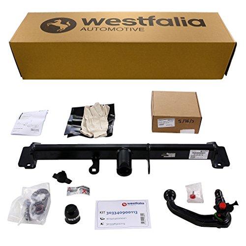 Westfalia abnehmbare Anhängerkupplung für BMW X3 (F25) (BJ 11/2010 - 09/2014) im Set mit 13-poligem fahrzeugspezifischen Westfalia Elektrosatz