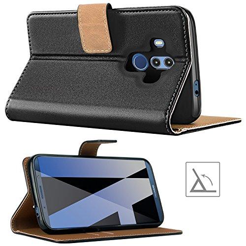 HOOMIL Handyhülle für Huawei Mate 10 Pro Hülle, Premium PU Leder Flip Schutzhülle für Huawei Mate 10 Pro Tasche, Schwarz - 4