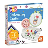 MindWare Make Your Own Embroidery – Cute & usable DIY Crafts for Girls & Teens – Learn 7 Basic Stitches to Make 6+ Projects – 14 pcs
