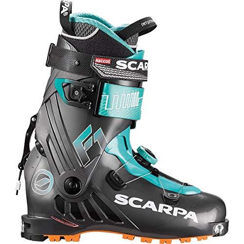 SCARPA Scarponi da Sci Alpinismo F1 Wmn Donna, Anthracite-Lagoon, 23.0