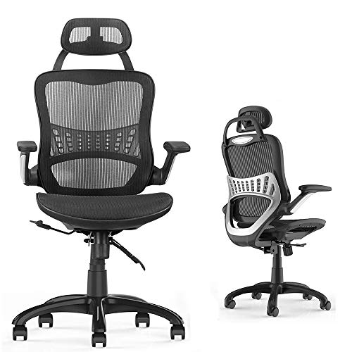 Ergonomic Office Task Chair,Desk Chair, High Back Executive Home Office Desk Chair with Arms Adjustable Height Back Lumbar Support Mesh Heavy Duty…