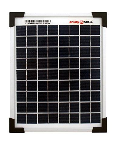 enjoy solar® SolarV Poly 12V 36V Polykristallin Solarpanel Solarzelle ideal für Wohnmobil, Gartenhäuse, Boot (5W)