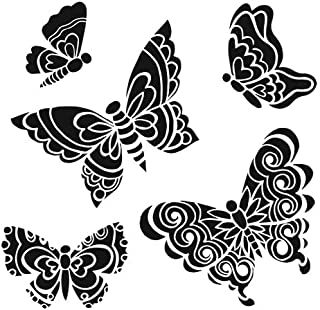 CRAFTERS WORKSHOP TCW6X6-465 Template, 6 by 6-Inch, Sweet Butterflies