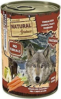 Natural Greatness Comida Húmeda para Perros de Venado con