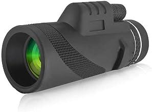 40X60 Monocular Handheld Adults FMC Broadband Green Film Waterproof Scope Single Hand Focus for Bird Watching Hunting Camping
