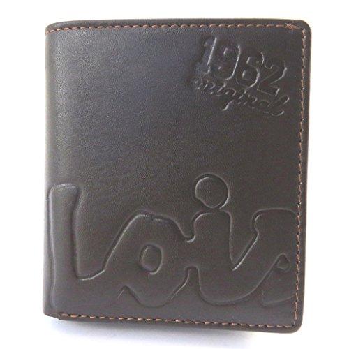 Lois Jean [M7378] - Leder geldbörse 'Lois Jean' braun (10x9x2 cm).