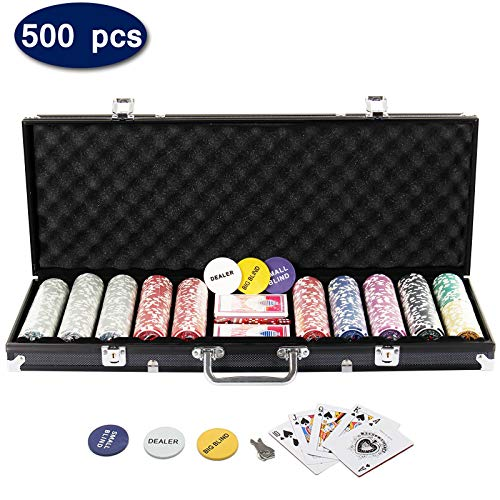 LoveinDIY Adults Table Board Game Poker Chips Tokens Big Number Printing for Casino