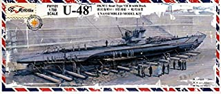 フライホークモデル 1/700 U ボートTypeVIIB U-48 ドック付き FLYFH1101 プラモデル