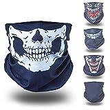 Totenkopf Skelett Skull Halloween Kostüm Multifunktionstuch Multifunktionsschal Schlauchmaske...