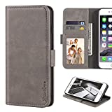 BQ Aquaris C Case, Leather Wallet Case with Cash & Card