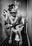 PICSonPAPER Poster Toiletparty, ungerahmt DIN A1,