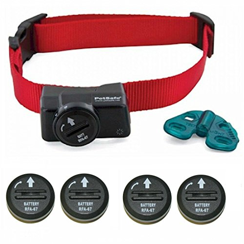 PetSafe Wireless Fence Collar - Waterproof Receiver - 5 Adjustable Levels of Correction. - PIF-275-19 - Bonus 4 Batteries