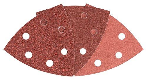 Bosch Professional 2 609 256 A54 LIJA VELCRO DELTA 60-120-240, Rojo, 93mm, Set de 6 Piezas