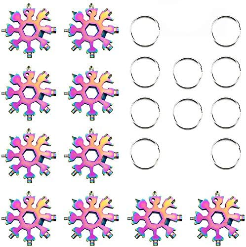 All items free shipping Snowflake Multi-Tool Max 67% OFF Stainless Steel Sno Tool Keychain