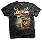 ZZ-Top Oficialmente Licenciado High Octane Racing Fuel Camiseta para Hombre (Negro), Medium