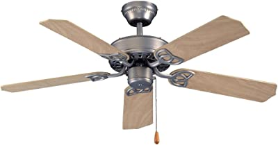 "Royal Pacific Lighting 1053BN Royal Night II 5 Blade Traditional Ceiling Fan, 42"", Brushed Nickel"