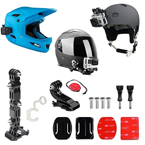 micros2u Soporte Frontal para Casco para GoPro + Kit lateral. Incluye