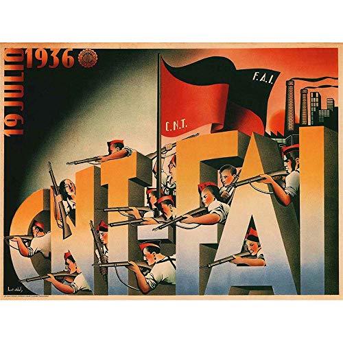 Wee Blue Coo War Spanish Civil 19 July 1936 Cnt FAI Republican Outbreak Spain Unframed Wall Art Print Poster Home Decor Premium
