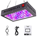 MAXSISUN 600W LED Grow Light, Full Spectrum LED Grow Lights for Indoor Plants Veg and Bloom, Plant Growing Lamps to Cover a 2x2ft Flowering Space (60pcs 10W Double Chips)