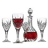 Godinger Dublin Wine Glasses and Decanter Set - 5 Piece