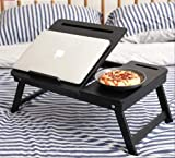 Product Dimension: Length (61 cm), Width (33 cm), Height (26 cm) Material: Wooden, Colour: BLACK FOLDABLE AND LIGHTWEIGHT: A wooden laptop table that is ideal for everyday use. This laptop table has foldable legs that make it easy to store in narrow ...